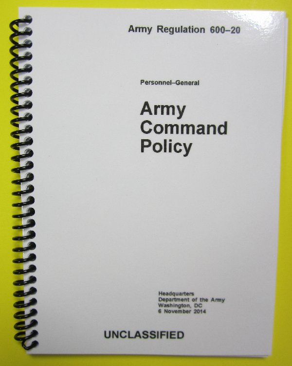 AR 600-20 Army Command Policy - $4 95 : My ARMY Publications