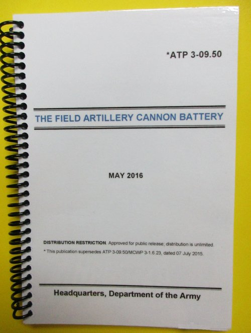 ATP 3-09.50 The Field Artillery Cannon Battery - 2016