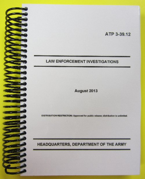ATP 3-39.12 Law Enforcement Investigations