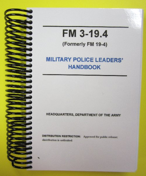 FM 3-19.4 MP Leader's Handbook
