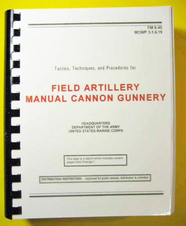 Fm 6 40 field ar manual cannon gunnery my army for Table 6 gunnery