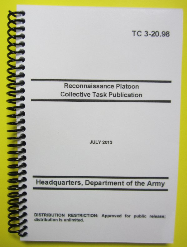 TC 3-20.98, Recon Plt Collective Task Publication