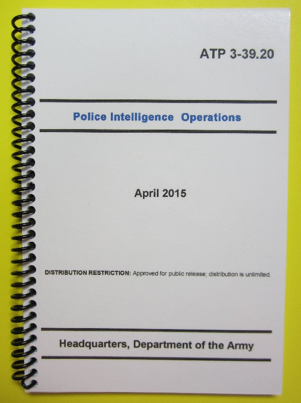 ATP 3-39.20 Police Intelligence Operations - 2015