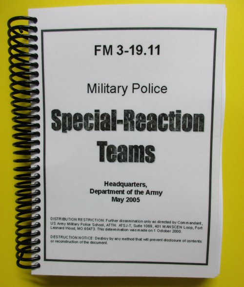 FM 3-19.11 MP Special-Reaction Teams - 2005 - BIG size