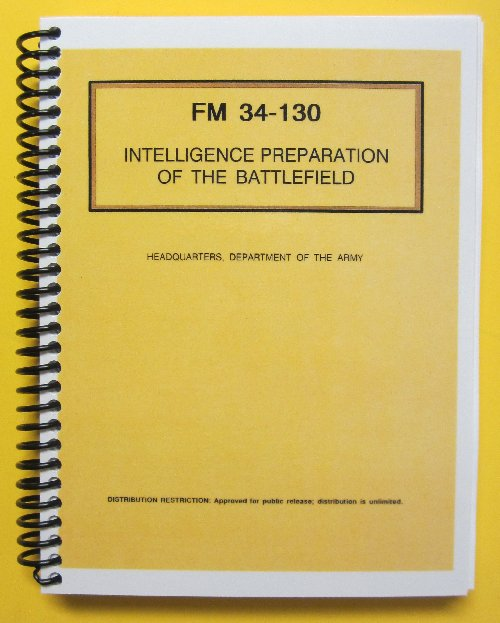 FM 34-130 Intelligence Prep of the Battlefield