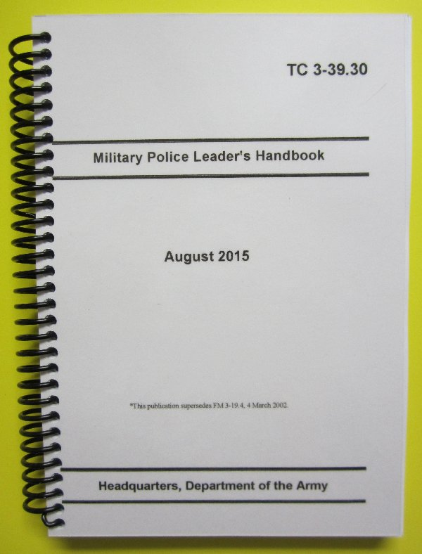 Military Police : My ARMY Publications, Resources for the