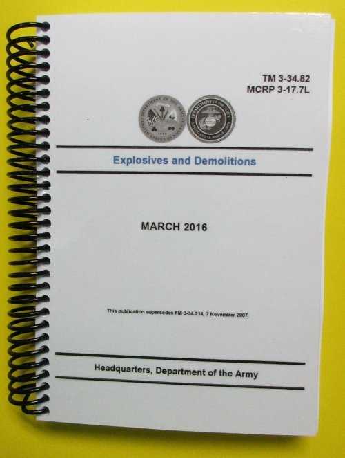 TM 3-34.82, Explosives and Demolitions - 2016 - mini size