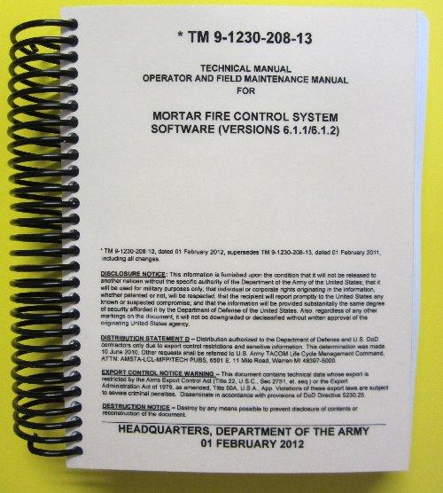 Mortar Fire Control System : Tm mortar fire control system software
